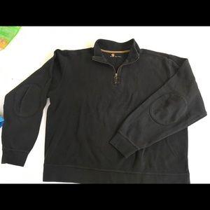 Men's Rugged Black Carhartt Pullover 1/4 Zip Large